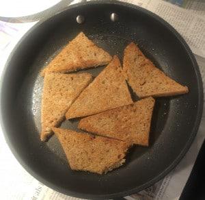 Brot anbraten