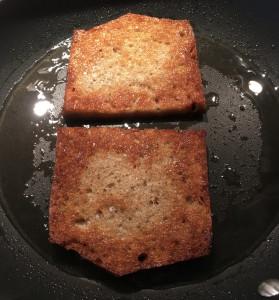 Brot gebraten