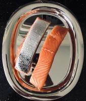 frische Lachsfilets mit Haut