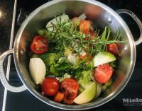 Gemüse für Wan Tan Suppe