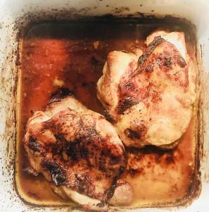 Hühnerschenkel im Ofen