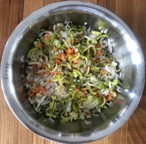 kleingeschnittenes Gemüse
