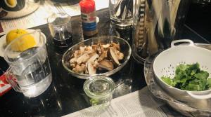 Zutaten für Garnelen aus dem Wok