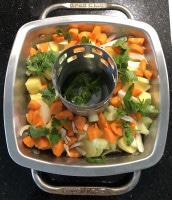 Gemüse für Brathähnchen