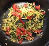 Gemüse für Spaghetti aglio e olio