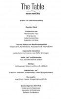 Menü The Table 08/21