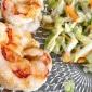 Thai Salat mit roten Garnelen