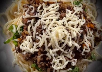 Spaghetti alla Bolognese Detail